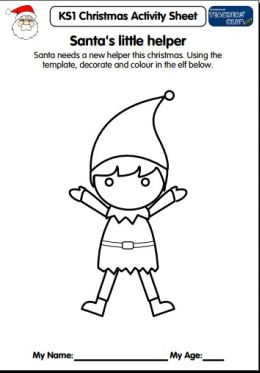 KS1 Christmas Activity Sheet