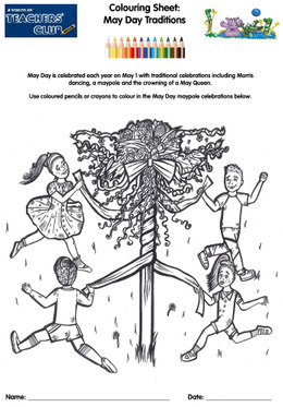 KS1 Colouring Sheet: May Day Traditions