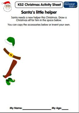 KS2 Christmas Activity Sheet